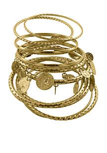 Gold-Tone Bracelet Set