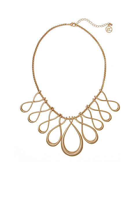 Erica Lyons Gold-Tone Infinity Loops Necklace