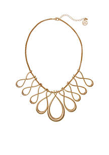 Gold-Tone Infinity Loops Necklace