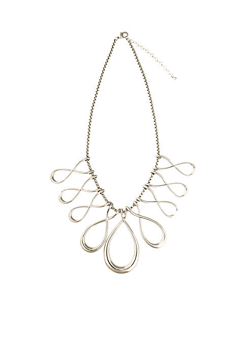 Erica Lyons Silver-Tone Sizzle Necklace