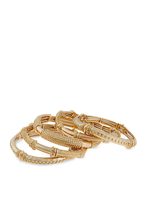 Gold-Tone Bangle Bracelets