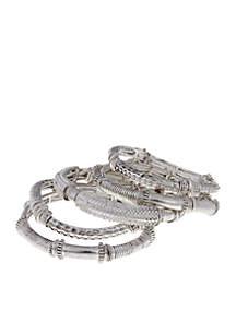 Silver-Tone Bangle Bracelet
