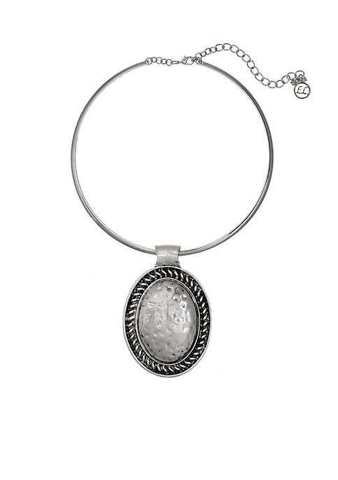 Erica Lyons Silver Tone Metal Pendant Necklace