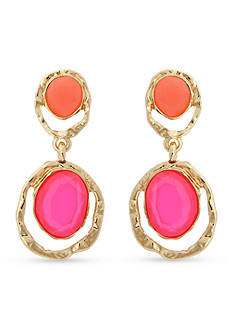 Erica Lyons Gold-Tone Brighten Your Day Double Drop Earrings