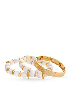 Erica Lyons Gold-Tone In The Clouds 3-Piece Stretch Bracelet Set