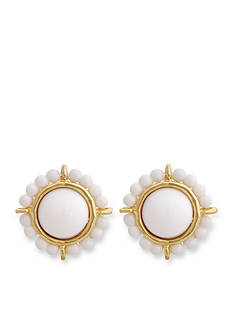 Erica Lyons Gold-Tone In The Clouds Button Clip Earrings