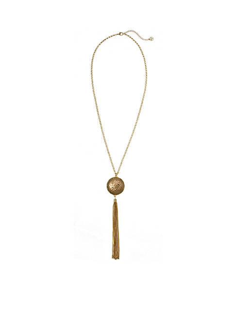 Erica Lyons Gold-Tone Metal Pendant Necklace