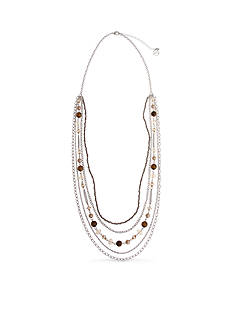 Erica Lyons Silver-Tone Pop Fizz Clink Multistrand Necklace