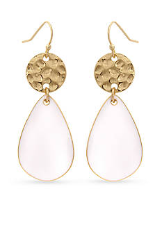 Erica Lyons Gold-Tone In The Clouds Double Drop Earrings