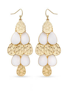 Erica Lyons Gold-Tone In The Clouds Chandelier Earrings