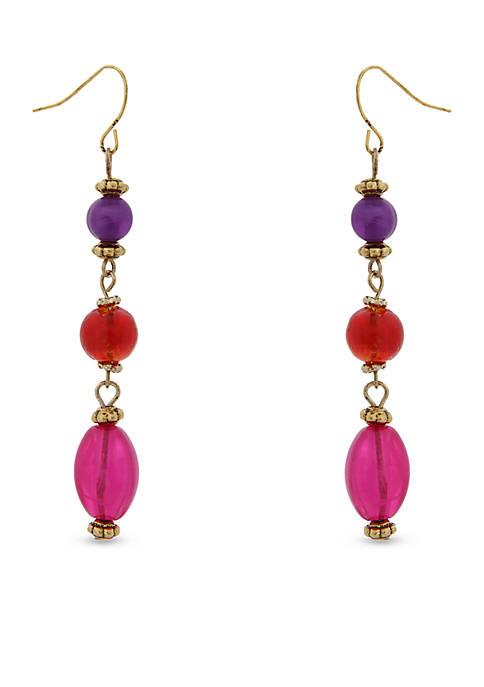 Gold-Tone Rock The Casbah Triple Drop Earrings