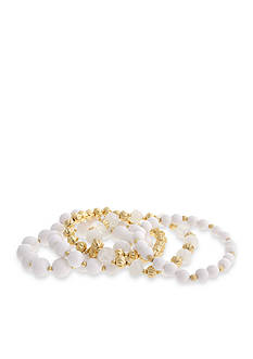 Erica Lyons Gold-Tone In The Clouds 5-Piece Stretch Bracelet Set