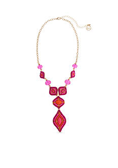 Erica Lyons Gold Tone Rock The Casbah Y-Neck Necklace