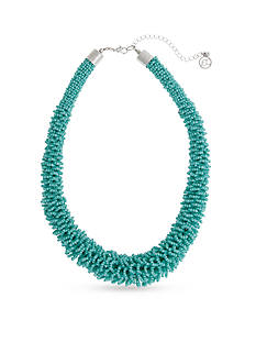 Erica Lyons Silver-Tone Sea Life  Statement Collar Necklace