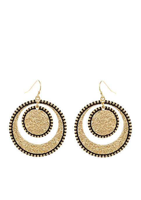 Erica Lyons Gold-Tone Gypsy Earrings