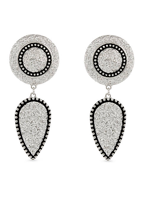Texture Me Later Drop Clip Earrings