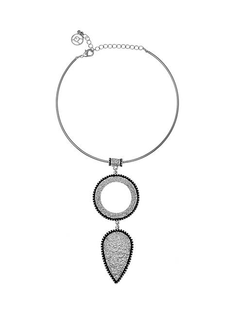 Erica Lyons Silver Tone Coil Necklace with Textured