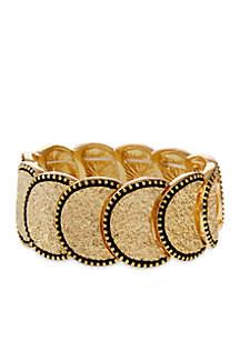 Gold Tone Metal Stretch Bracelet