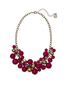 Gold-Tone Cluster Necklace