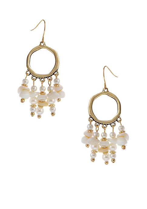Erica Lyons Gold-Tone Vitamin Sea Drop Pierced Earrings