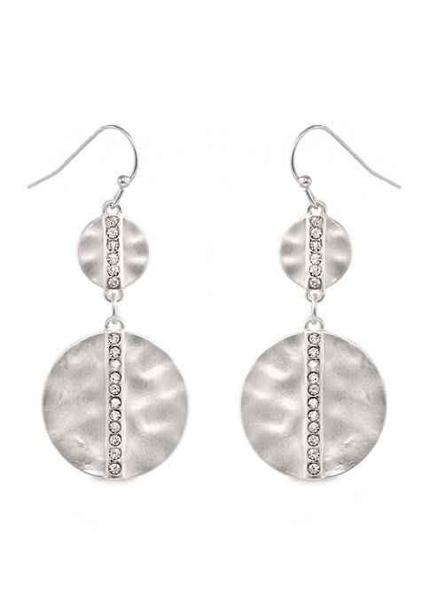 Erica Lyons Silver-Tone Metal Linear Drop Earrings