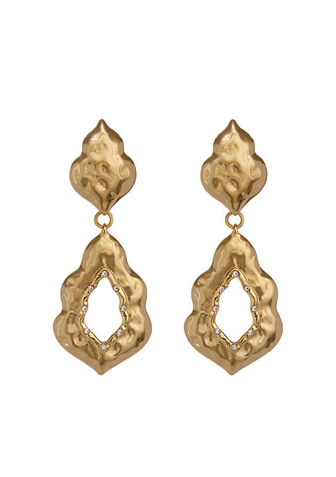Erica Lyons Gold-Tone Moroccan And Rollin Drop Clip