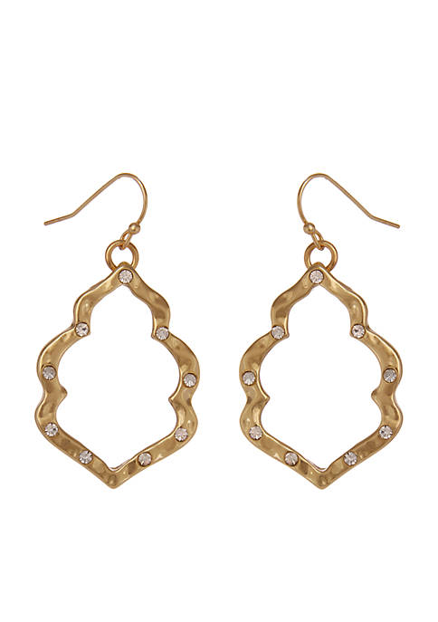 Erica Lyons Gold-Tone Moroccan And Rollin Drop Pierced