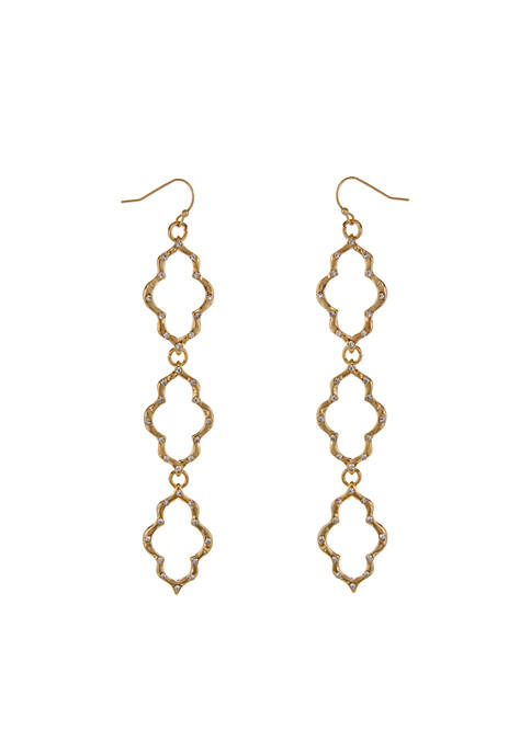Erica Lyons Gold-Tone Moroccan And Rollin Linear Pierced