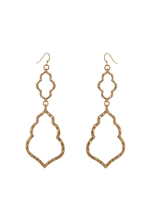 Erica Lyons Gold-Tone Moroccan And Rollin Pierced Drop