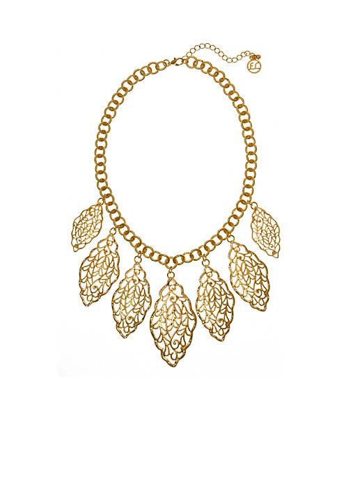 Erica Lyons Gold-Tone Moroccan And Rollin Statement Necklace