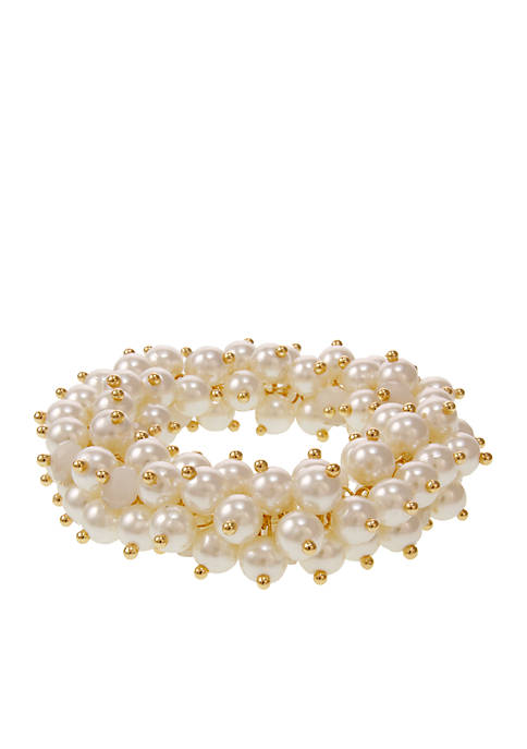 Erica Lyons Gold-Tone Pearlfectin Stretch Bracelet