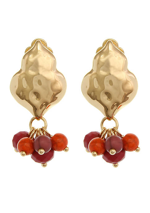 Gold-Tone Meet Me At Sunset Clip Earrings