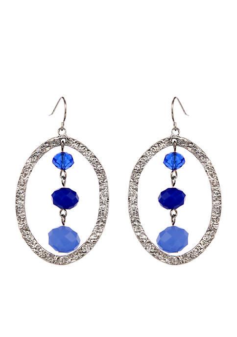 Erica Lyons Silver Tone Blue La La Ring