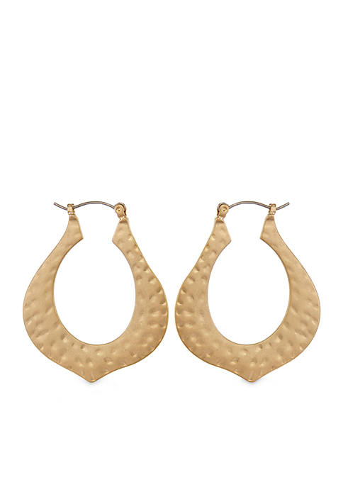 Erica Lyons Gold-Tone Metal Hoop Earrings