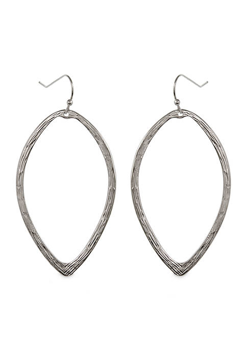 Erica Lyons Silver-Tone Metal Drop Pierced Earrings
