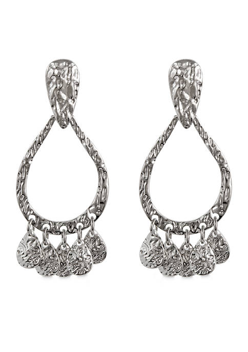Erica Lyons Silver-Tone Metal Gypsy Pierced Earrings