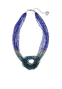 Seed Bead Knot Necklace