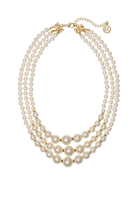 Erica Lyons Multi Row Pearl Necklace