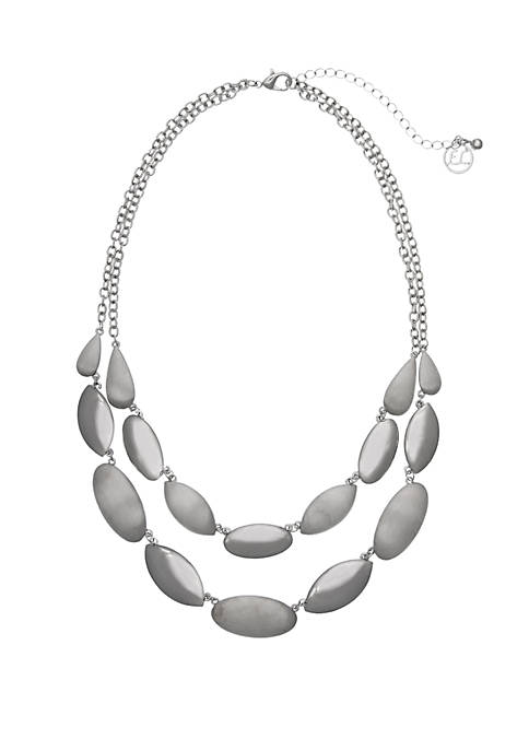 Silver-Tone 2-Row Necklace