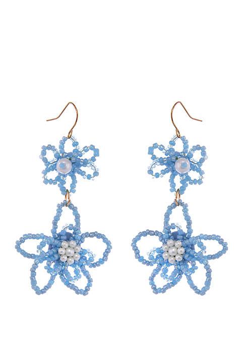 Erica Lyons Gold Tone Drop Pierced Earrings with