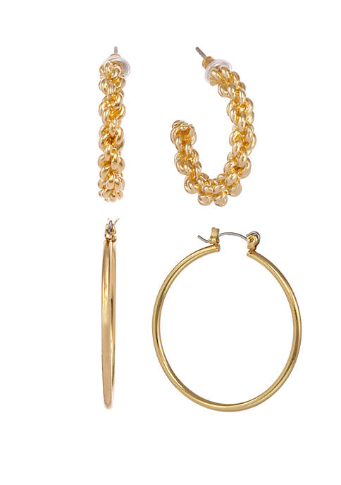 Erica Lyons Gold Tone Set of 2 Plain