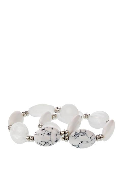 2 Piece Bead Bracelet Set