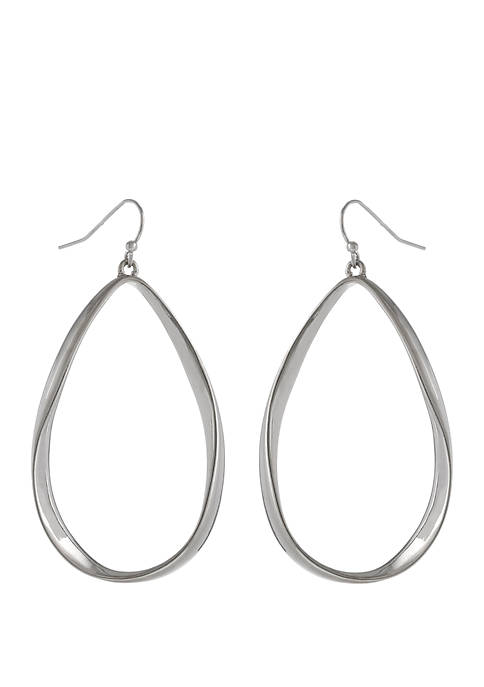 Erica Lyons Teardrop Pierced Earrings