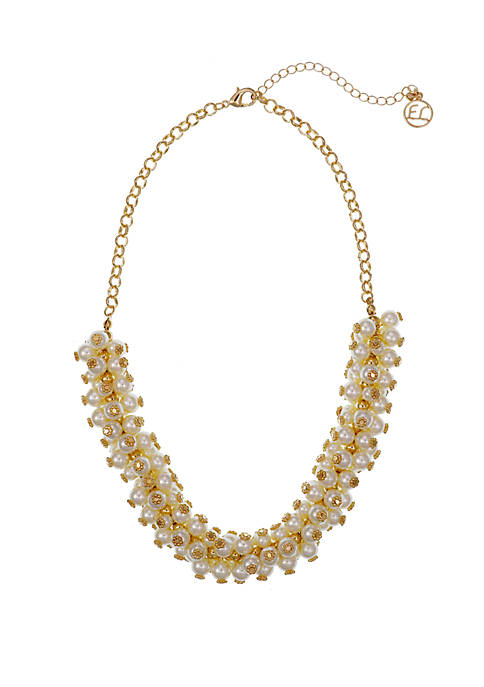 Erica Lyons Gold Tone Collar Necklace with Smooth