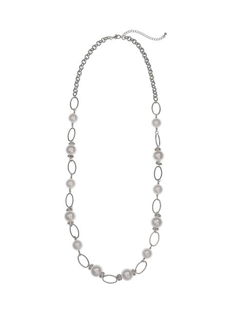Erica Lyons Long Pearl Necklace