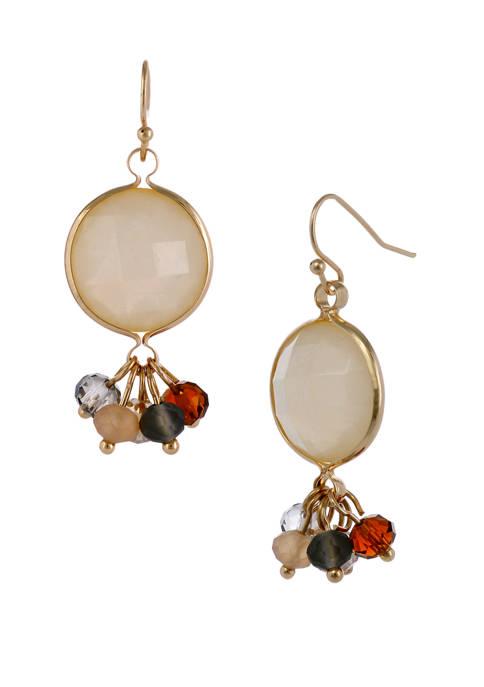 Erica Lyons Stone Drop Earrings