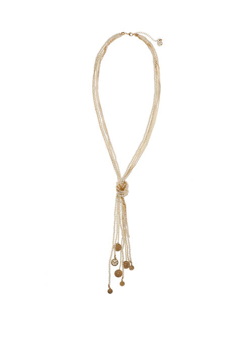 Erica Lyons Gold Tone Pearl and Chain Long