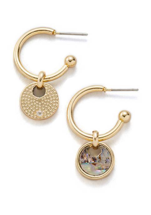Erica Lyons Gold Tone Post Hoop Earrings with