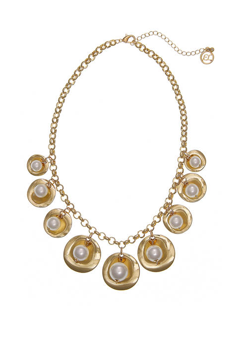 Erica Lyons Gold Tone Shakey Short Necklace with
