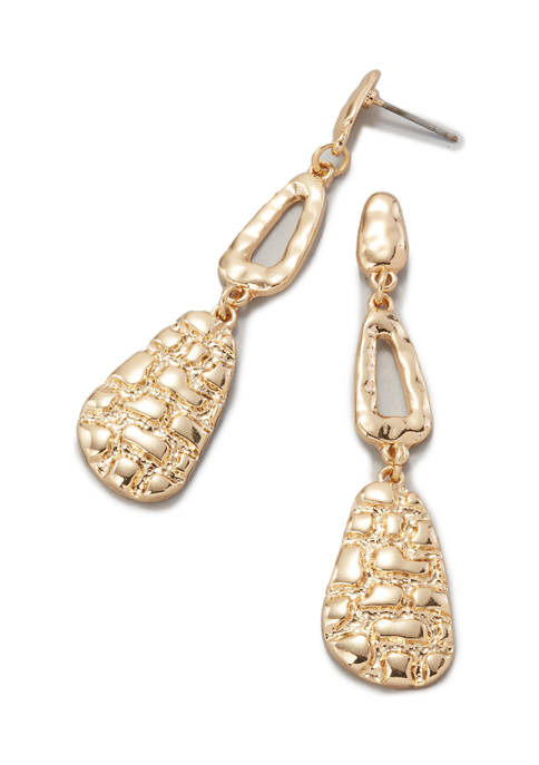 Erica Lyons Linear Drop Earrings